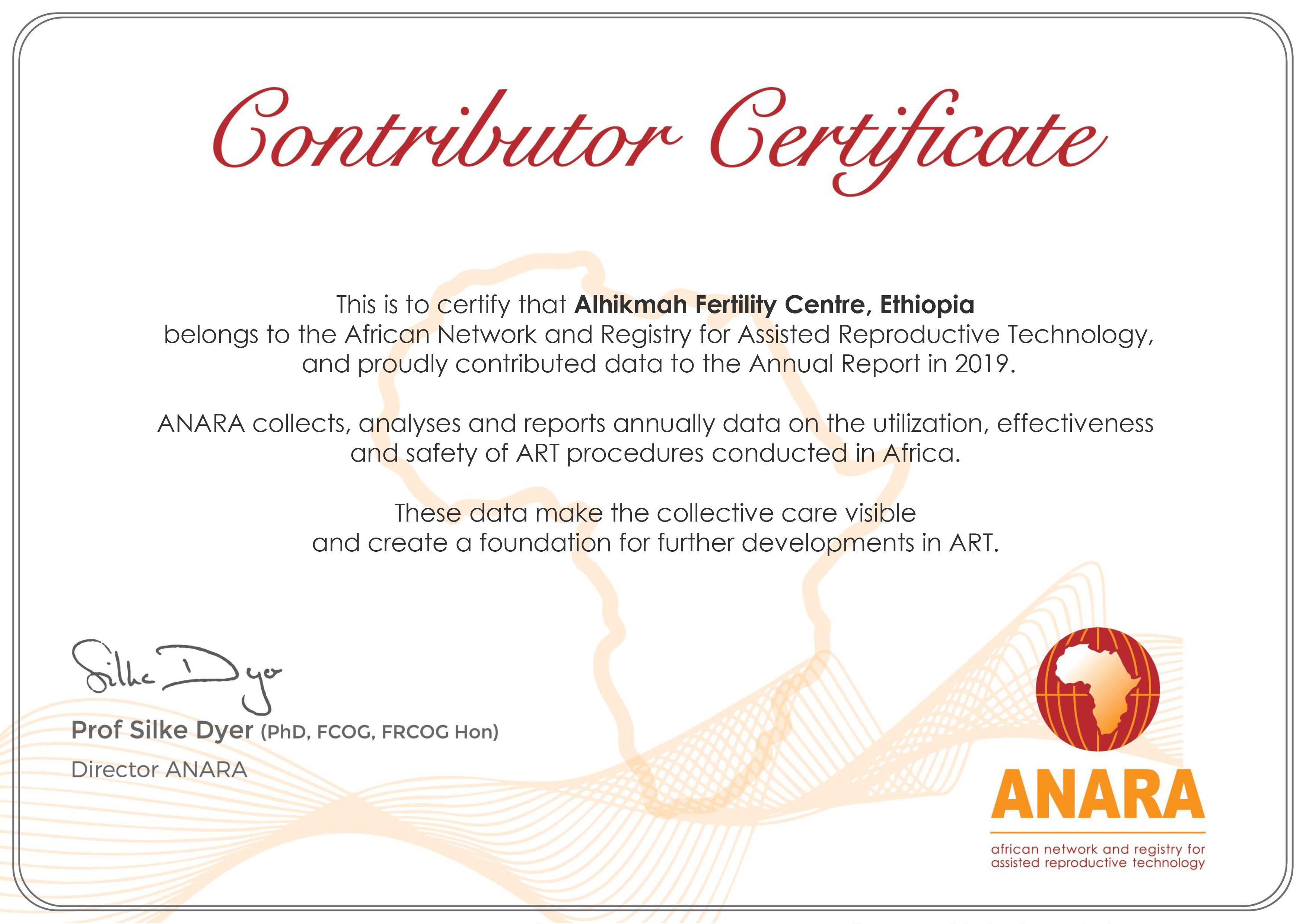ANARA-Certificate-Alhikmah-Fertility-Centre